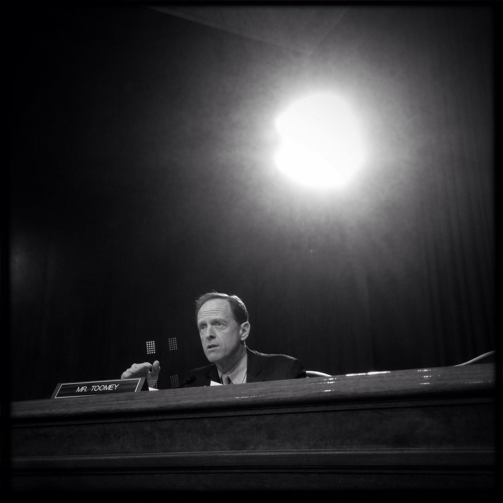 Senator Pat Toomey (R-PA) questions Janet Yellen during her confirmation hearing to be the next Chairperson of the Federal Reserve Bank.