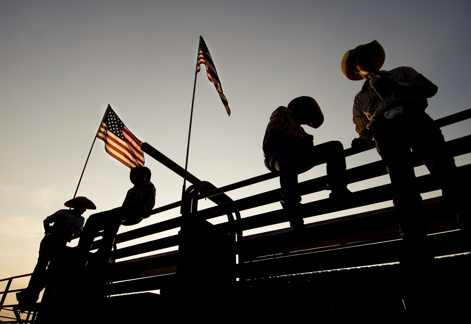 Cowboys prepare for a rodeo as part of the Rockingham County Fair in Harrisonburg, Va. in 2007.