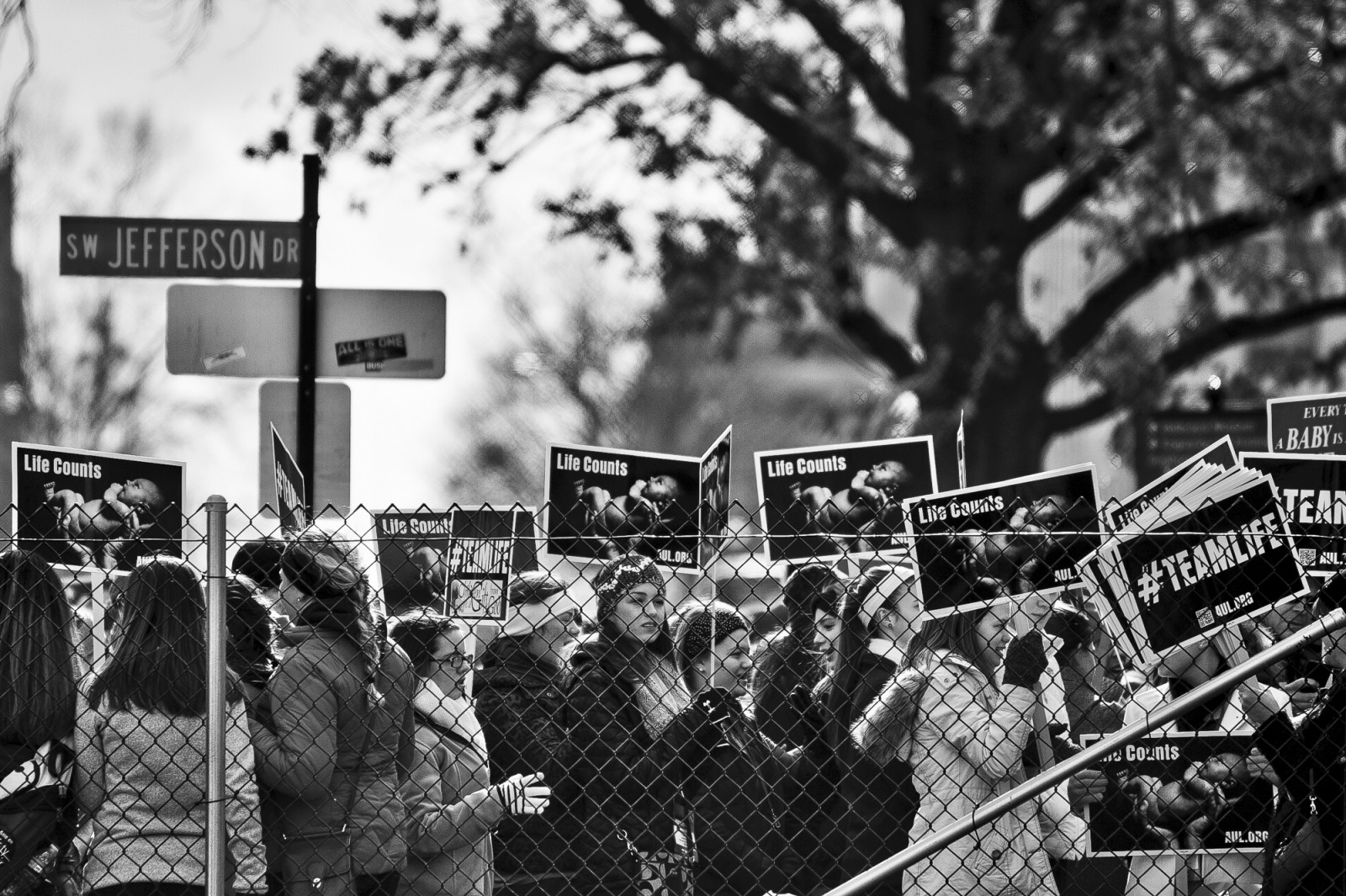 Anti-abortion activists arrive to take part in the 42nd March for Life in Washington, DC on January 22, 2015. Activists from across the nation participated in the annual pro-life rally protesting abortion and the 1973 Roe v. Wade Supreme Court decision legalizing abortion. UPI/Pete Marovich