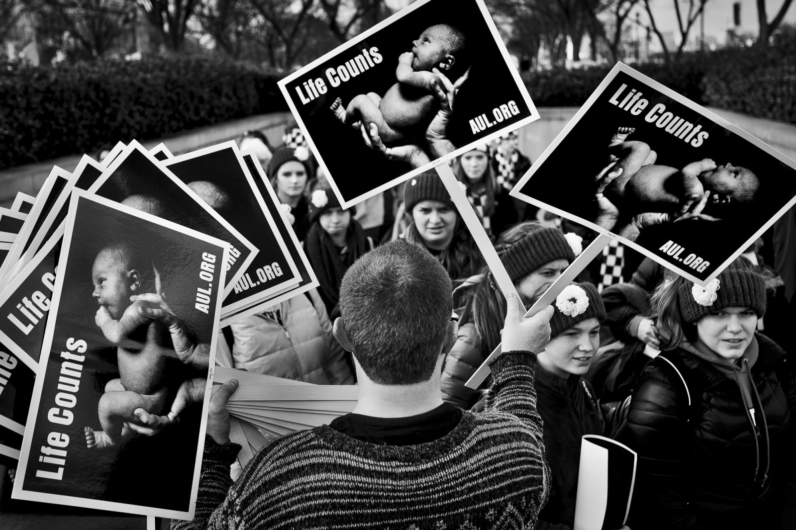 Anti-abortion activists take part in the 42nd March for Life in Washington, DC on January 22, 2015. Activists from across the nation participated in the annual pro-life rally protesting abortion and the 1973 Roe v. Wade Supreme Court decision legalizing abortion. UPI/Pete Marovich