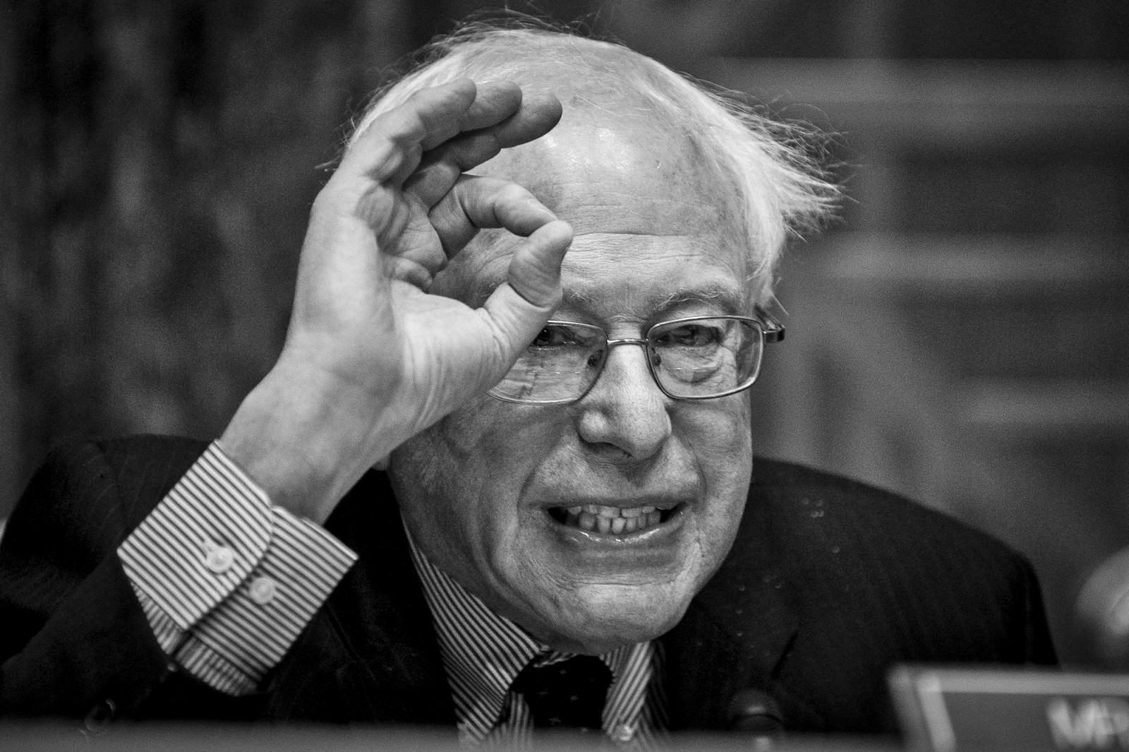 Senator Bernie Sanders (ID-VT) makes opening remarks before Office of Management and Budget Director Shaun Donovan testifies before the Senate Budget Committee on Capitol Hill in Washington, D.C. during a hearing on the president's FY2016 budget request on Feburary 3, 2015.