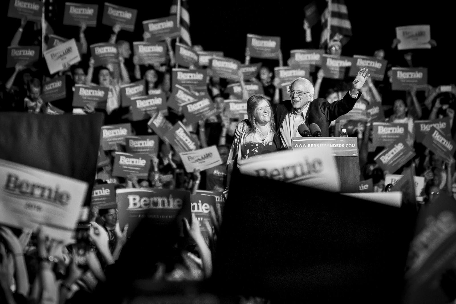 Bernie Sanders Campaigns in Manassas Va.